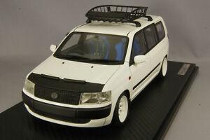 ignition model 1/18 IG1646 Toyota Probox GL NCP51V White Roof Rack Nose Bra New