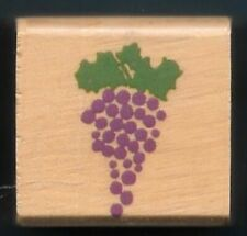Grapes Bunch Vine Leaves Fruit Vineyard Winery Food New wood mount Rubber Stamp