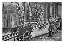 pt3936 - Nottingham Lady Window Cleaners , Nottinghamshire - photo 6x4