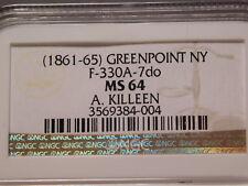 Civil war token Greenpoint, N.Y