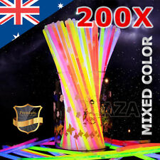 200 Mixed Color Glow Sticks Bracelets Light Party Glowsticks Glow in The Dark