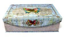 Punch Studio Flap Rectangle Flip Top Nesting Box Butterfly Atlas 61772 Medium