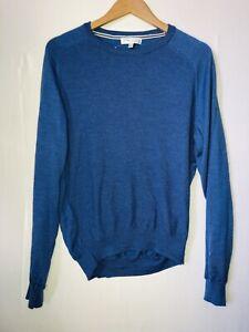 GIOVANI E BELLI Men's Size Large Woollen Long Sleeve Jumper Blue VGC