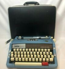 Vintage RARE 1970's Brother Opus 899 Blue Typewriter with Case - Sky Blue Color