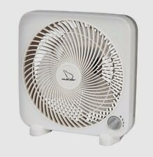 "POLAR AIRE 9"" Personal Box Fan 3 Speed Switch White Portable Cooling S-9PB NEW!!"
