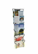 "Wall Mount Greeting Card Display Wire Rack Black Horizontal Landscape 7x5"" Cards"