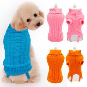 XXS XS Small Dog Jumper Cute Pet Puppy Cat Winter Sweater Soft Warm Clothes Blue