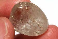 Gold Rutilated Quartz 21mm Tumbled Crystal Stone Specimen #8