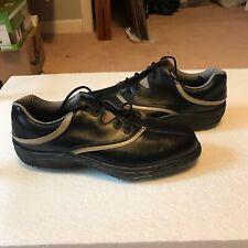 Foot Joy Mens Golf Shoes, Black/Tan leather Size 8.5 Comfort series