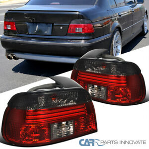 For 97-00 BMW E39 528i 540i 5-Series Red/Smoke Rear Tail Break Lamps Left+Right