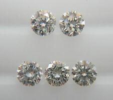 1.9mm 0.13cts 5pc VS-SI Clarity H Color Natural Loose Brilliant Diamond Nontreat