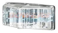 SIM 3124 12V 24V WHITE CLEAR FRONT MARKER LAMP LIGHT CARAVAN MOTORHOME TRAILER