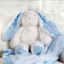 Mudpie Blue Plush Minky Bunny