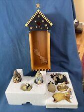 WILLIRAYE STUDIOS - Nativity ~ Eight Piece Set 2001 WW261 BRAND NEW IN BOX