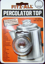 TOPS FITZ ALL PERCOLATOR GLASS TOP NEW 13/16 to 1 1/12 Clear  Model 135