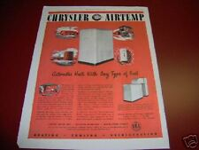 1946 Chrysler Airtemp Air Conditioning Heating Ad