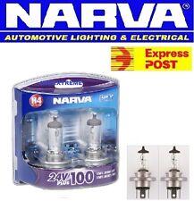 NARVA H4 24 VOLT PLUS 100% HALOGEN TWIN PACK GLOBES TRUCK TRAILER 48874BL2 24V