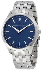 Armani Exchange AX2166 Diamond Accented Blue Dial Stainless Steel Men's Watch