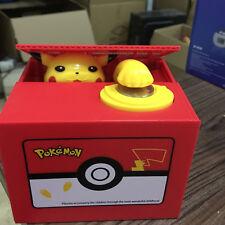 Pokemon Pikachu Moving Electronic Coin Money Piggy Bank Savings Box Xmas Gift SP