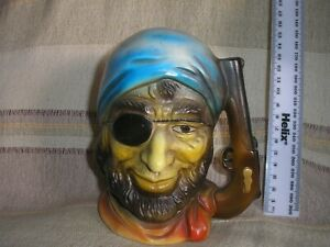 Vintage Buccaneer / Pirate Ceramic Money Box. Signed FOREIGN