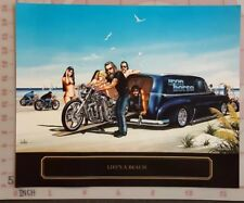 David Mann Classic motorcycle art - Life's A Beach