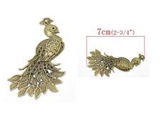 4x Pavone Aluminum 7cm Bronze Colour Vintage Pendant Necklace Bracelet
