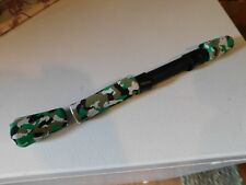 Batson size 16 spin seat with green camo split grips for rod building