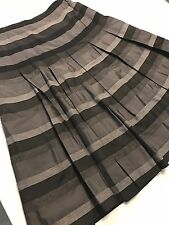 DAVID LAWRENCE WOMENS SKIRT STRIPED VISCOSE BLEND LINED Pleated Work Party Sz 8