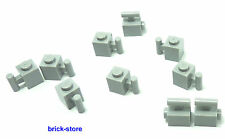 LEGO® hellgrau  /  1x1 Grundbaustein mit Griff / Stange / 10 Stück