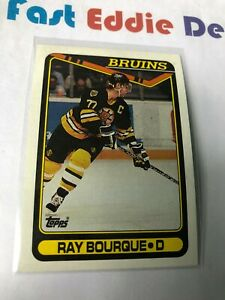 TOPPS NHL HOCKEY 1990-91 RAY BOURQUE CARD 43 BOSTON BRUINS EXCELLENT