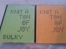 MACHINE KNITTING PATTERN BOOKS KNIT A TON OF JOY SET OF 3 HARRIET TONN