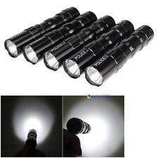 5X Ultra Bright Waterproof 3W Police LED Mini Flashlight Torch Camping Black ZH