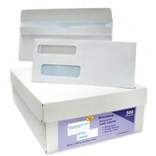 500 SELF SEAL Double Window Security Tinted Envelopes - Designed for Business...