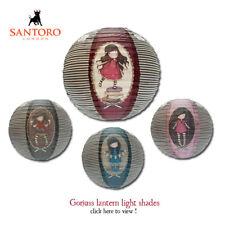Santoro Gorjuss Papier Lanterne Lampe/Abat-jour Ruby Cute GIRL & CAT Swing Vin
