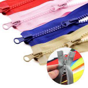 1PC Long Zips Double Slider Waterproof Connectors invisible pen bag resin zipper