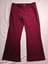 "Beyond Yoga Red Athletic Flared Cropped Capri Inseam 22"" Size M"