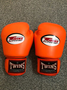 Twins Special Thai Boxing Gloves , 14oz Orange.