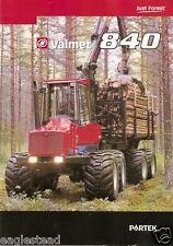 Equipment Brochure - Valmet - 840 - Forwarder Logging - French - 2000 (E2093)