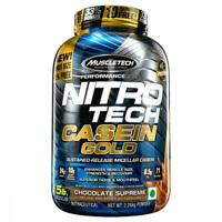 MuscleTech NitroTech Casein Gold Protein Powder, Sustained-Release 5 Pound