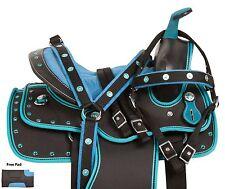NEW 10 12 13 YOUTH WESTERN PONY PLEASURE TRAIL SHOW HORSE SADDLE TACK SET PAD