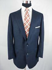 Norman Hilton Men Navy Blue 2Button Blazer Sport Coat Jacket Fully Canvassed 40L