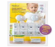 ChildProof Magnetic Cabinet Locks 10-Pcs Set Child Baby Safety Kit Drawers Doors