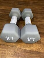 CAP Hex Neoprene Dumbbell Weights Set 10 lbs Total 20 Pounds