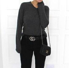 Uniqlo Cashmere Merino Wool Thin Knit V-Neck Charcoal Blogger Designer Jumper S