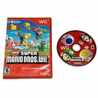 New Super Mario Bros. Wii Nintendo Wii Disc Only Scratched Untested