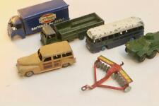 (LOT 12) Job Lot of 6X Dinky Toys Guy Ever Ready  B.O.A.C. Bus 10 Ton Army Truck