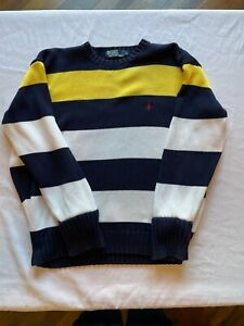 Vintage Ralph Lauren Striped Knitted Pullover Jumper Large