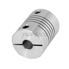 """6.35x6.35mm CNC Flexible Coupling Motor Connector 1/4"""" to 0.25"""" Shaft Coupler"""