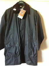 Barbour Border Waxed Jacket in Sage Size S