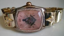 Men's Gold/Rose Gold Finish Bling Dressy/Casual Mason Fashion Wrist Watch